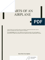 parts of an airplane created powerpoint