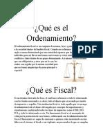 Ordenamiento Fiscal