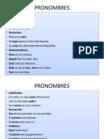 PRONOMBRES. CLASIFICACIÓN Y FUNCIÓN