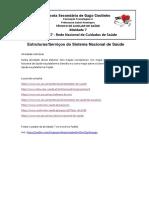 Atividade 7 Estruturas e Serviços do Sistema Nacional de Saúde