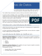 Estructuras de Datos - Tema 1