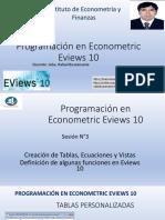 sesión3.Programación en econometric. Eviews10