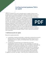 Regimul contabil și fiscal privind ajustarea TVA în cazul bunurilor de capital