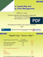 Toyota Way Supply Chain