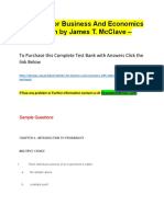 Statistics for Business and Economics 12th Edition by James T. McClave – Test Bank