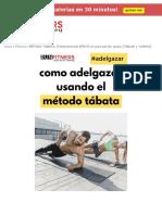 Metodo Tabata - Rutinas y ejercicios