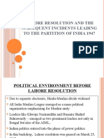Lahore Resolution and the Partition of India.pptx
