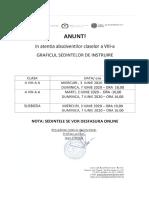 Graficul Sedintelor de Instruire a Elevilor Si Parintilor