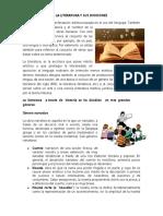 LA LITERATURA Y SUS DIVISIONES