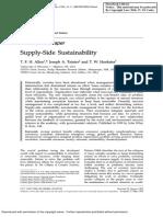 (Allen et al, 1999) Supply-Side Sustainability