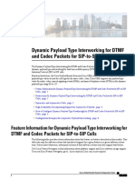 Dynamic Payload Type Interworking for DTMF and Codec Packets for SIP-to-SIP Calls