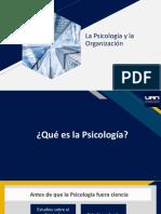 La psicología y la organización