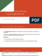 Teoría y crítica literaria teoría sociologico