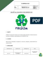 MANUAL PARA EL MANEJO DE RESIDUOS SÓLIDOS