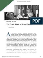 Morrissey The Tragic World of Henry Kissinger - Law & Liberty