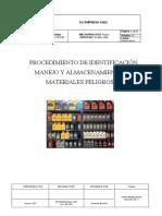 PROCEDIMIENTO DE IDENTIFICACIÓN, MANEJO Y ALMACENAMIENTO DE MATERIALES PELIGROSOS
