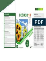 ECO-BOR 10 Foliar 1 Litro