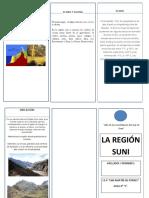 TRIPTICO DE LA REGION SUNI