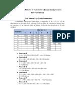 Ejemplos de los Métodos de Formulación y Evaluación de proyectos