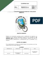IDENTIFICACION DE ASPECTOS Y EVALUACION AMBIENTAL
