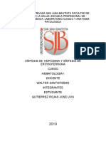 UNIVERSIDAD PRIVADA SAN JUAN BAUTISTA FACULTAD DE CIENCIAS DE LA SALUD hematologia