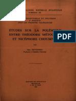 Sevcenko I._Etudes sur la polemique entre Theodore Metochite et Nicephore Choumnos