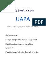 Tarea Español.uapa