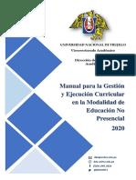 Manual para Gestión y Ejecución Curricular No Presencial UNT 2020.pdf