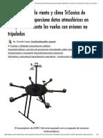 El mini sensor de viento y clima TriSonica de Anemoment proporciona datos atmosféricos en tiempo real durante los vuelos con aviones no tripulados _ Noticias comerciales de UAV