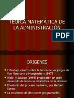 TEORIA MATEMÁTICA DE LA ADMINISTRACIÓN