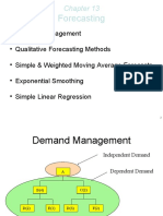 Demand Forecasting Methods based on Actual Data