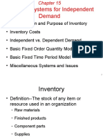 Inventory System for Independent Demand