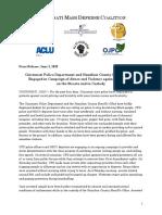 Cincinnati Mass Defense Coalition Statement on Arrests