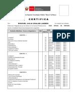 Certificado para CHALAN LANDEO  TURISMO A