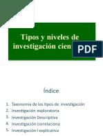 1.3 TIPO Y NIVEL O ALCANCE DE INVESTIGACIÓN