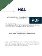 territorializacion e identidades en el espacio rural