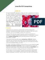 Causas y Efectos De El Coronavirus