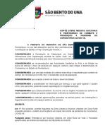 Decreto - Proibição de Fogueiras em São Bento do Una - Covid-19 - Junho - 2020