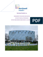 Northwell Management Discussion and Analysis of Q1 2020 Financial Statements