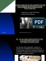 FUNDAMENTOS FILOSÓFICOS DE LOS DERECHOS HUMANOS Autor