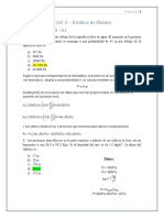 EJERCICIOS DE Estática de Fluidos  DE FLUIDOS & TERMICA