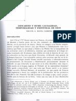 09 Miguel a. Badia Cabrera..Descartes y Hume Casualidad Temporalidad y Existencia de Dios