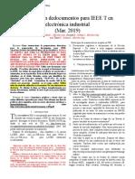 Preparación dedocumentos para IEEE T en electrónica industrial
