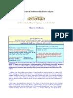 Nabi Muhammad SAW dalam kitab Hindu