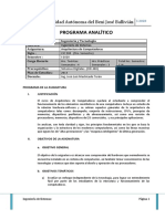 I-2020 - Programa Analitico - CIC500 (Arquitectura de Computadoras)