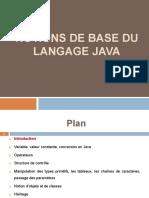 Chapitre 1 Notions de Base en Java