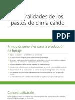 Unidad 1. Generalidades de los pastos de clima cálido