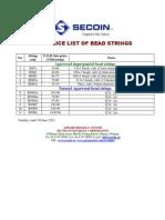 2011 Price List of Agarwood Bead Strings