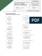 evaluacion online octavo fac