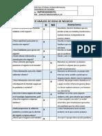 Matriz de Analisis de Ideas de Negocios